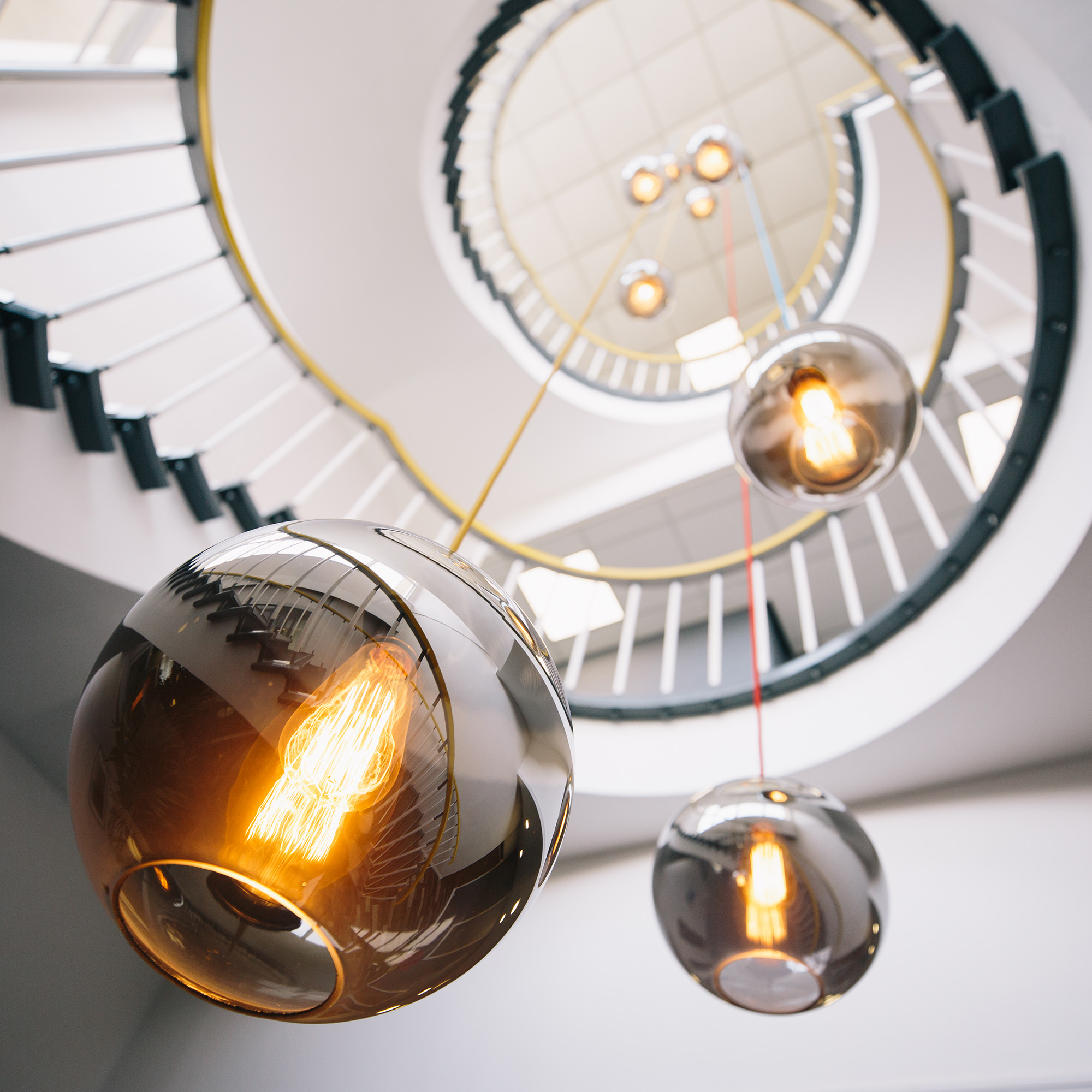 HUB26 stairwell lights